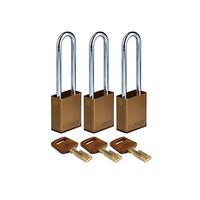 SafeKey aluminium veiligheidshangslot bruin 150284