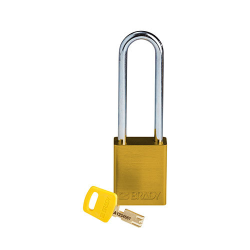 SafeKey Aluminium safety padlock Yellow 150285