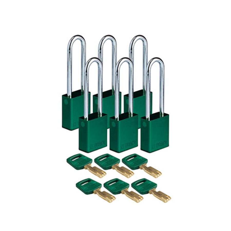 SafeKey aluminium veiligheidshangslot groen 150360