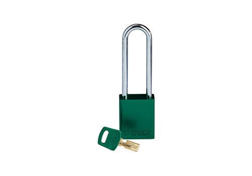 SafeKey Aluminium safety padlock Green 150360