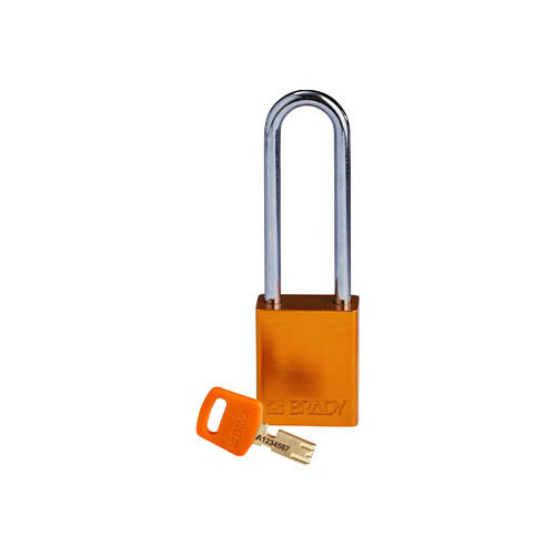 SafeKey Aluminium safety padlock Orange 150306