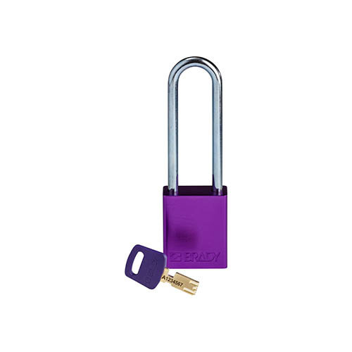 SafeKey Aluminium safety padlock purple 150330