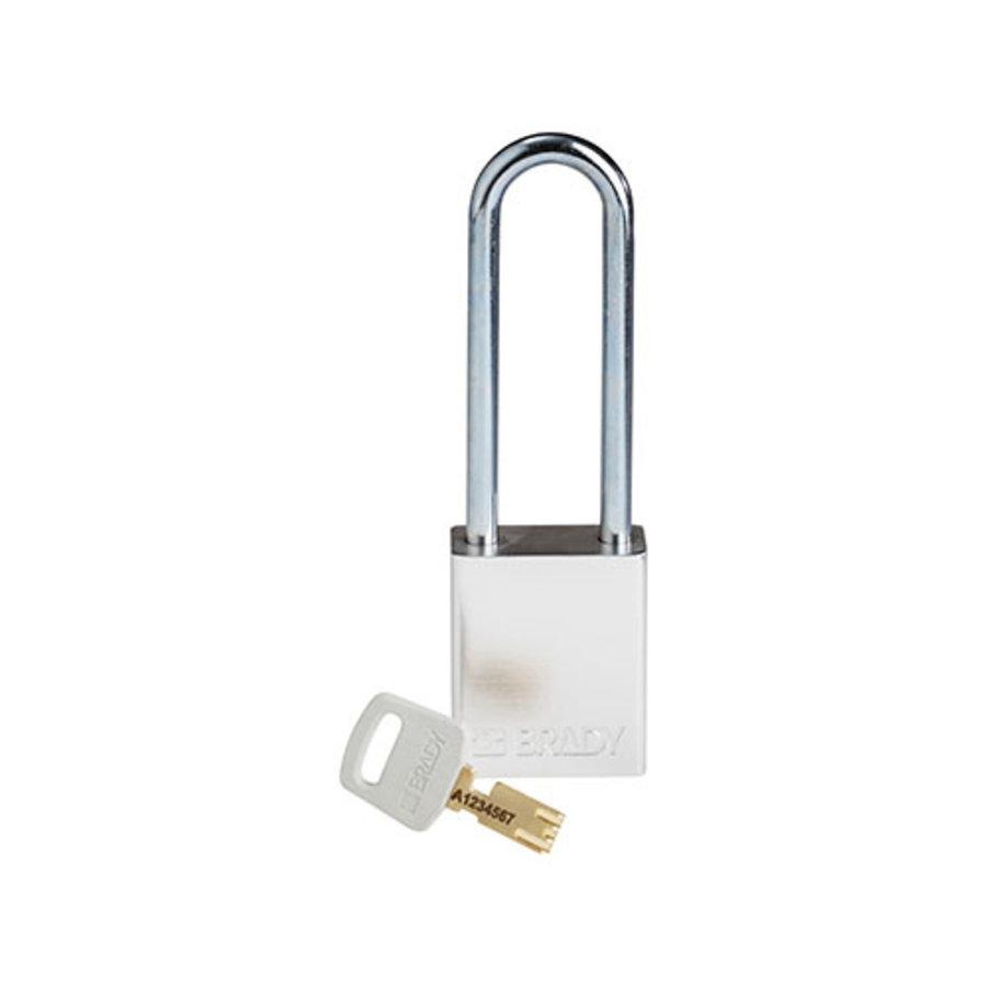 SafeKey Aluminium safety padlock silver 150283