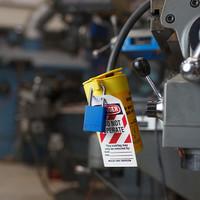 SafeKey Aluminium safety padlock blue 150287