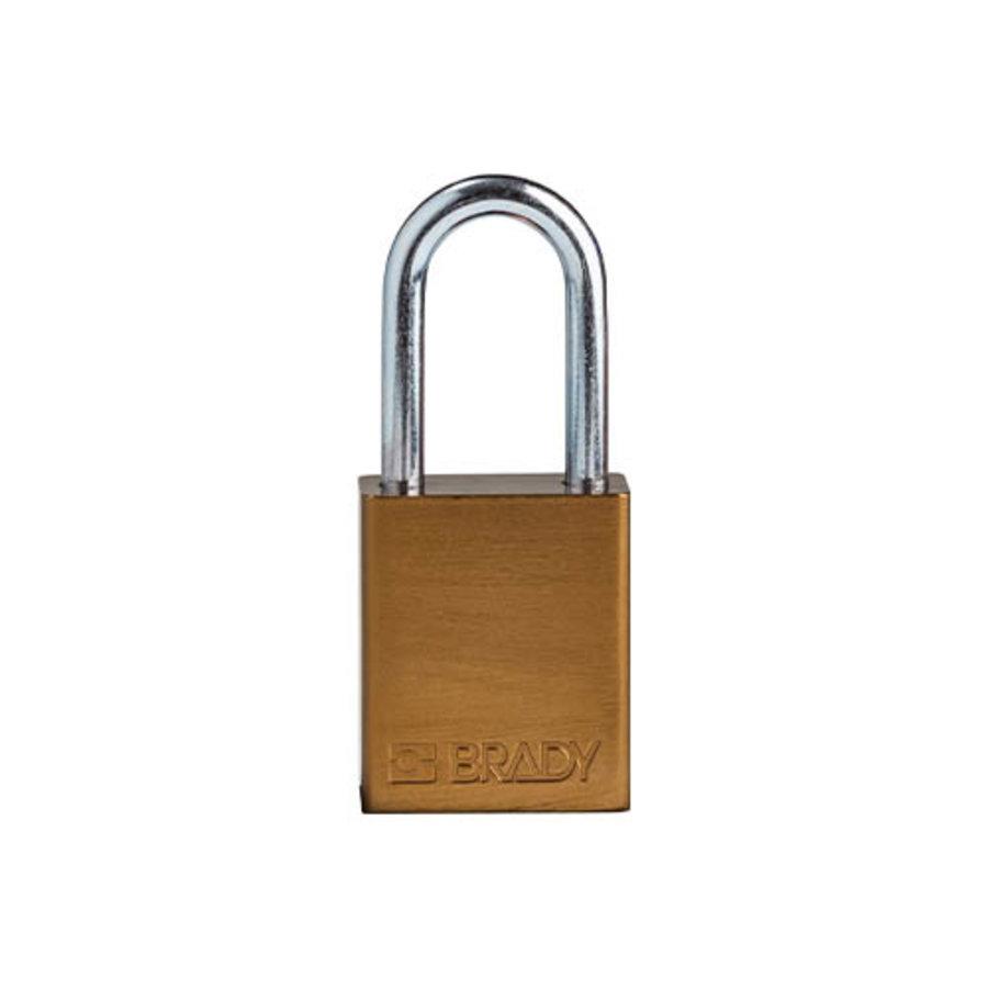SafeKey aluminium veiligheidshangslot bruin 150286