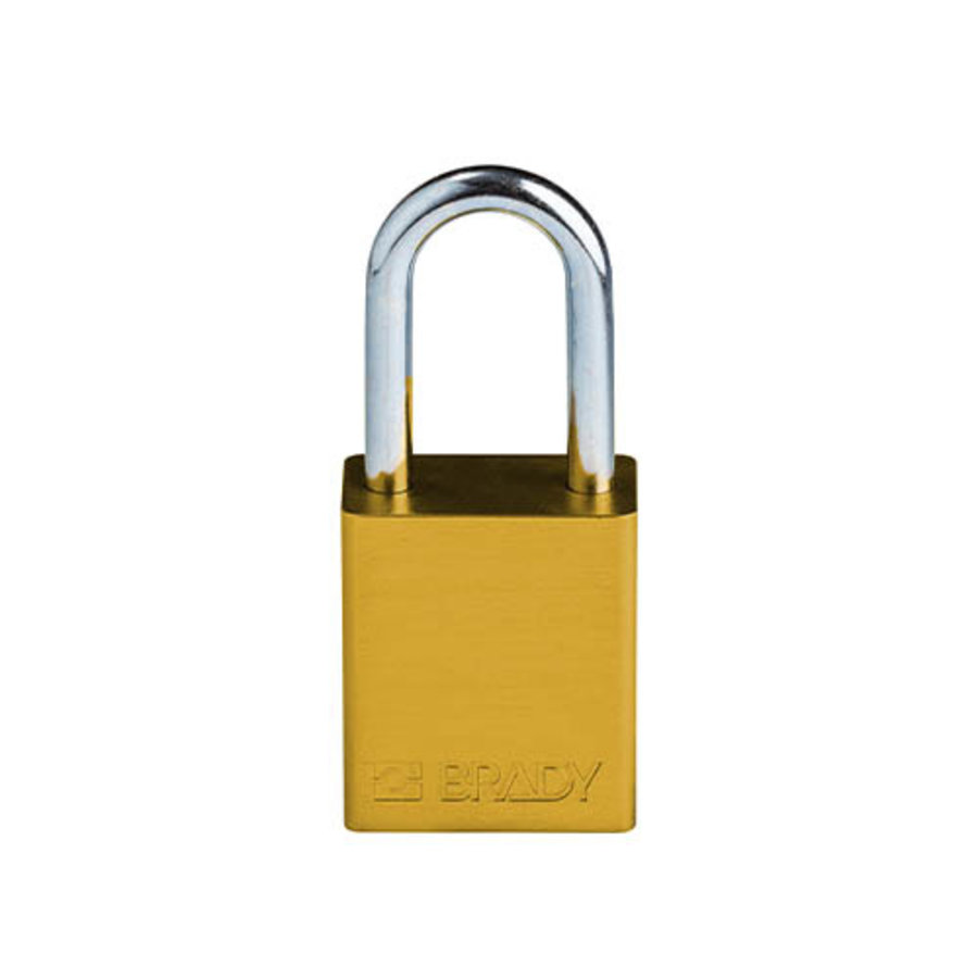 SafeKey aluminium veiligheidshangslot geel 150288