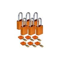 SafeKey aluminium veiligheidshangslot oranje 150263