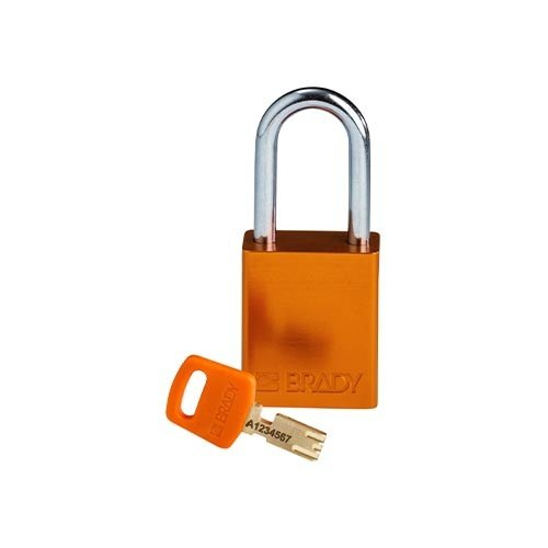 SafeKey Aluminium safety padlock Orange 150263