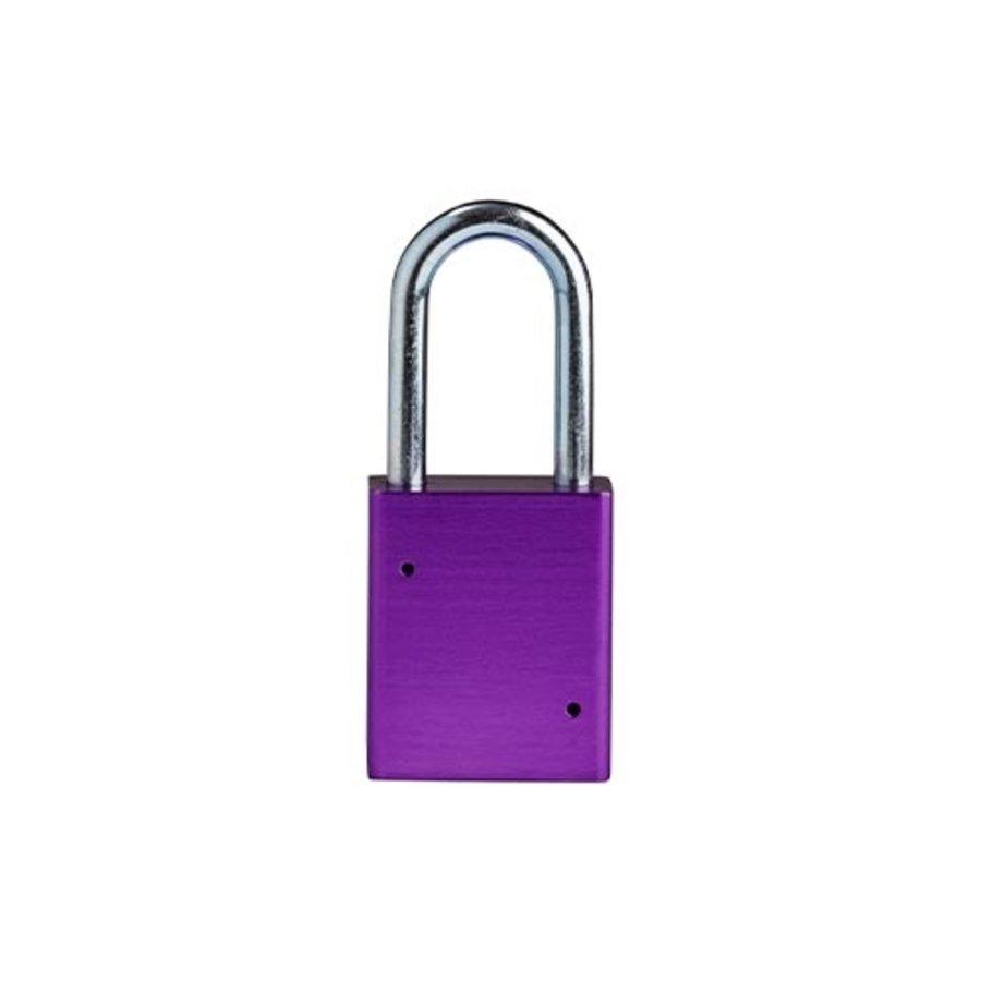 SafeKey aluminium veiligheidshangslot paars 150333