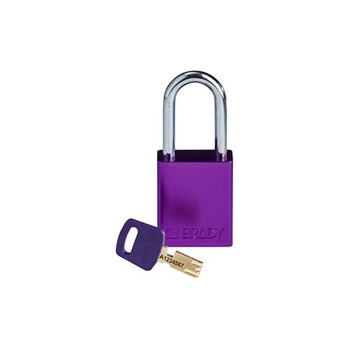 SafeKey Aluminium safety padlock Purple 150333