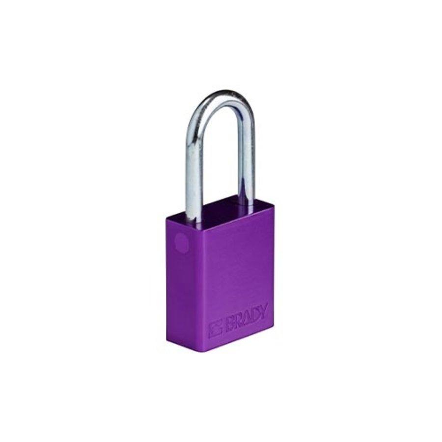 SafeKey Aluminium safety padlock Purple 150333