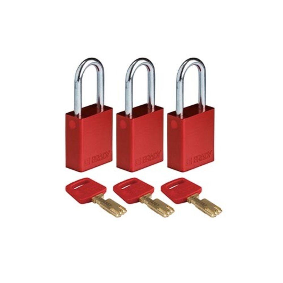 SafeKey Aluminium safety padlock Red 150307