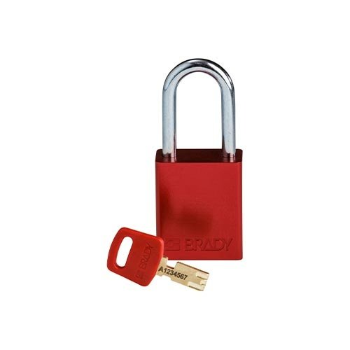 SafeKey Aluminium safety padlock Red 150307