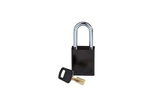 SafeKey Aluminium safety padlock Black 150243