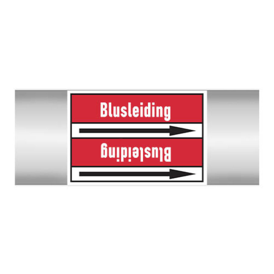 Pipe markers: Blusleiding | Dutch
