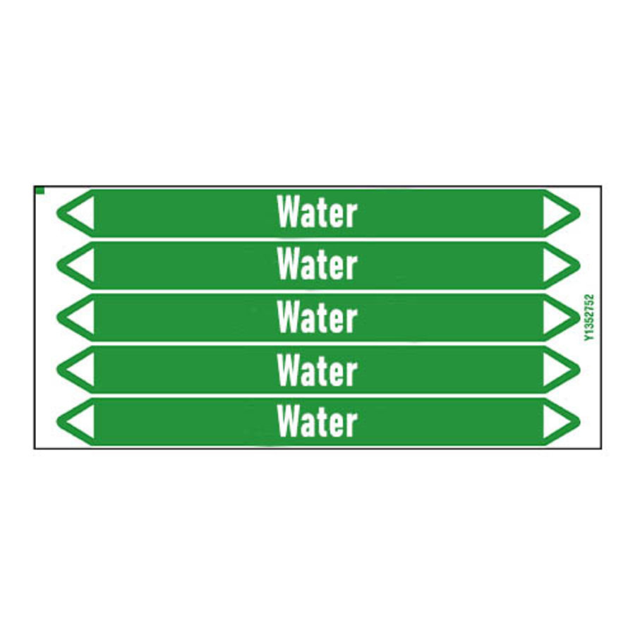 Pipe markers: Desinfectiewater   Dutch   Water