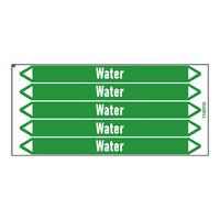 Pipe markers: Heet water 110° | Dutch | Water