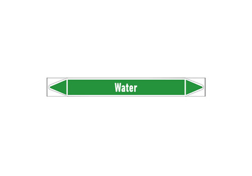 Pipe markers: Heet water 60° | Dutch | Water