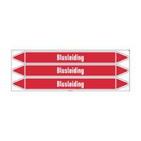 Leidingmerkers: Blusschuim | Nederlands | Blusleiding