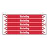 Brady Pipe markers: Brandbluskoolzuur | Dutch | Blusleiding