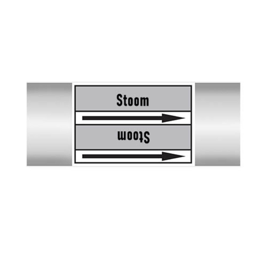 Pipe markers: LD stoom   Dutch   Steam