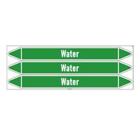 Pipe markers: Proces koud water | Dutch | Water