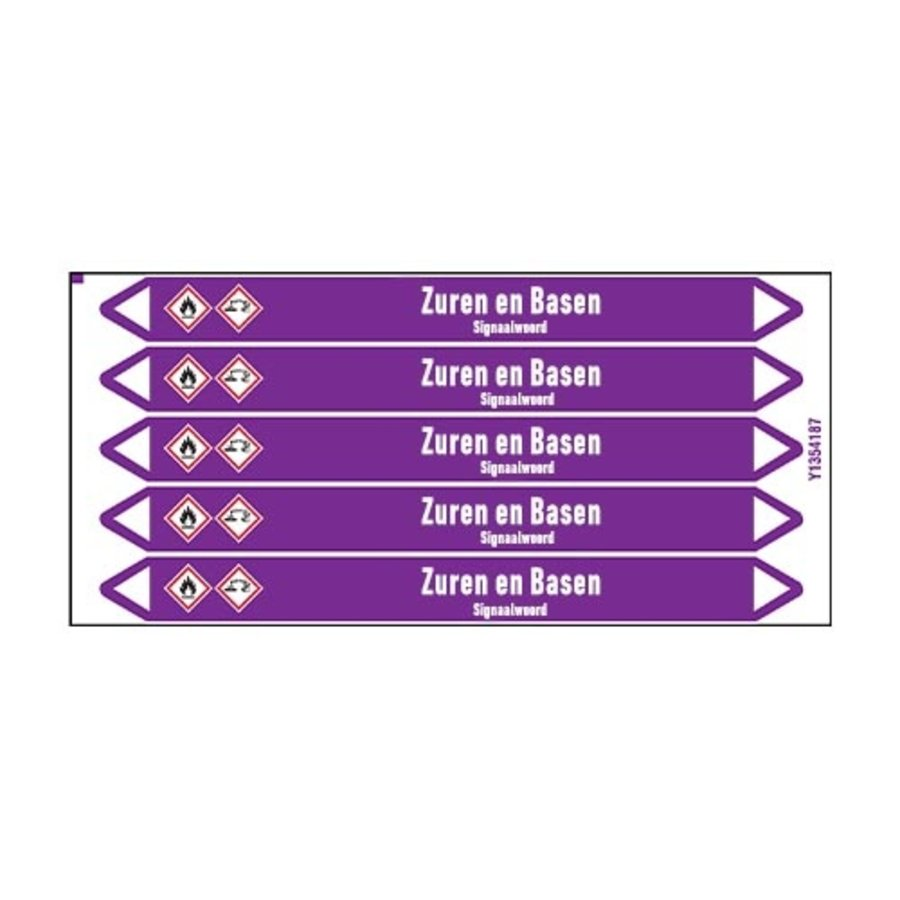 Pipe markers: Acrylzuur | Dutch | Acids and Alkalis
