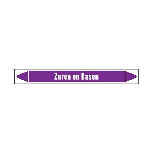 Pipe markers: Vers zuur  | Dutch | Acids and Alkalis