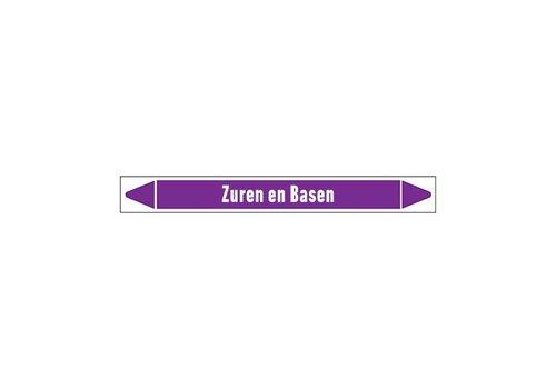 Leidingmerkers: Zure oplossing  | Nederlands | Zuren en basen