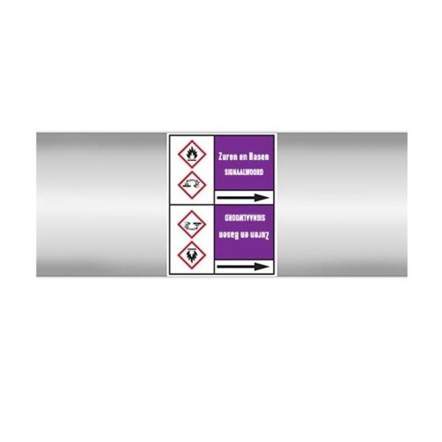 Leidingmerkers: Verdund zwavelzuur  | Nederlands | Zuren en basen