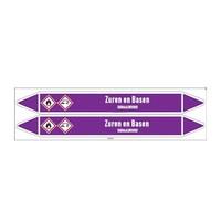 Pipe markers: Zwavelzuur 78% | Dutch | Acids and Alkalis