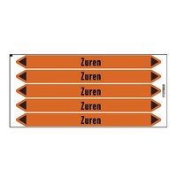 Pipe markers: Geregeneerd zuur | Dutch | Acids