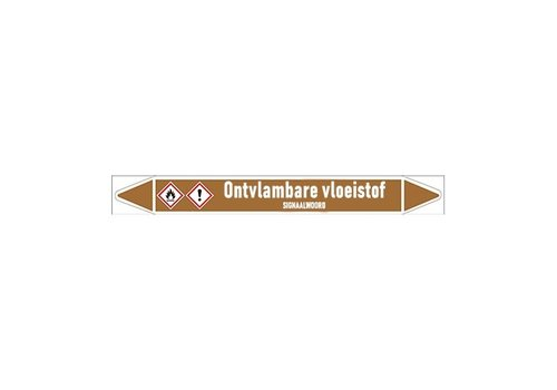 Pipe markers: Emulsie | Dutch | Flammable liquids