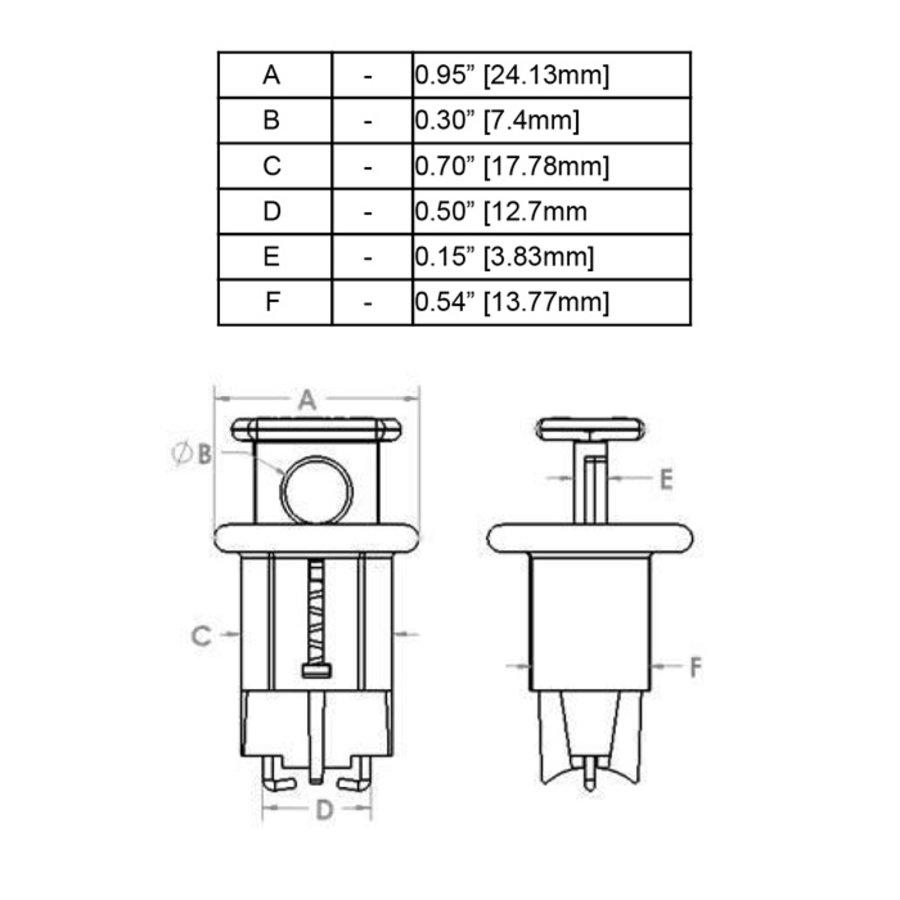 Miniatuurvergrendeling voor stroomonderbrekers (Pin-In Standard) 090847, 090848