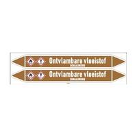 Pipe markers: Petroleum   Dutch   Flammable liquid