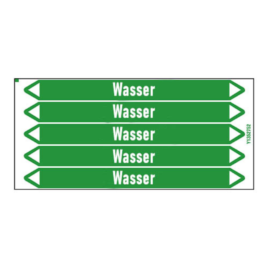 Leidingmerkers: Kaltwasser Rücklauf | Duits | Water