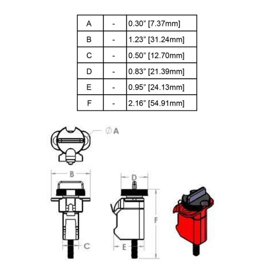 Miniatuurvergrendeling voor stroomonderbrekers (Tie-Bar TBLO) 090853, 090854