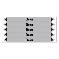 Pipe markers: stoom 8 bar | Dutch | Steam