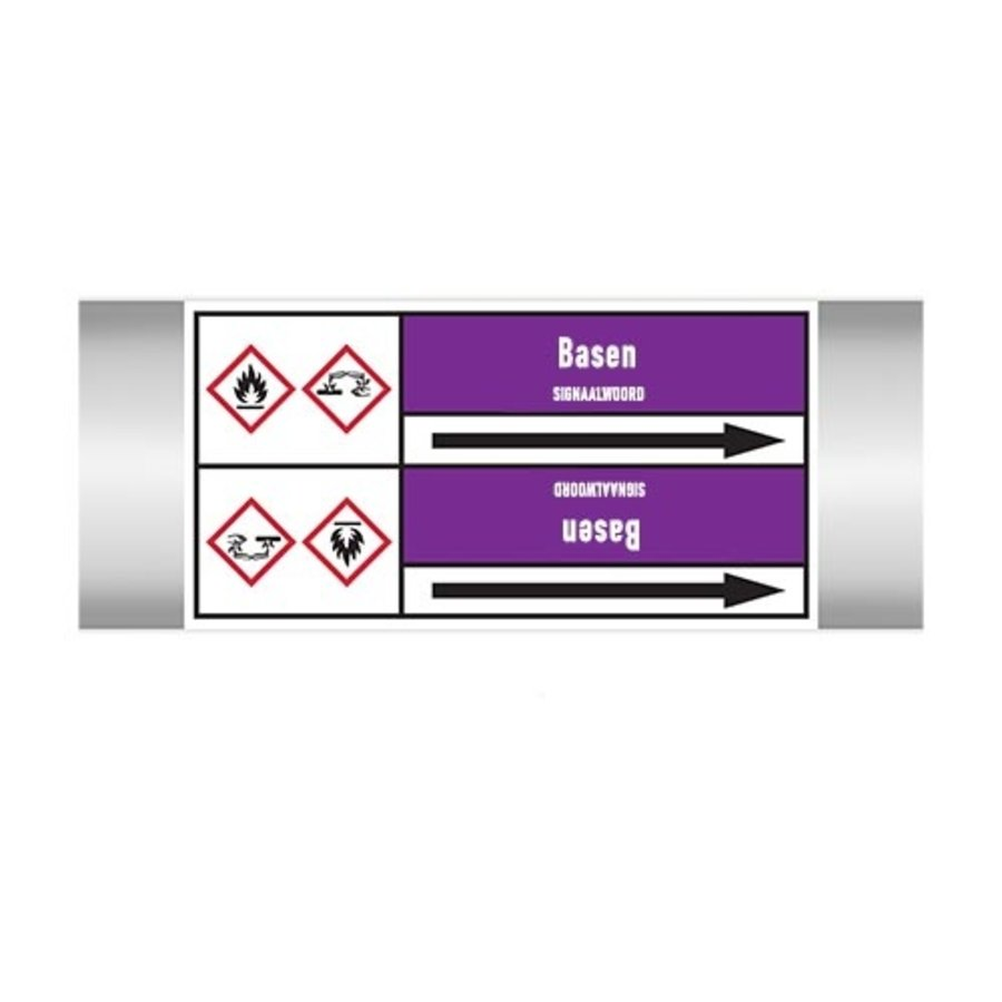Pipe markers: Natriumhydroxide | Dutch | Alkalis