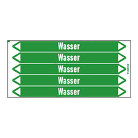 Leidingmerkers: Warmwasser 70°C | Duits | Water