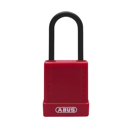 Aluminium veiligheidshangslot met rode cover 76PS/40 rood