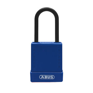 Abus Aluminum safety padlock with blue cover 84810