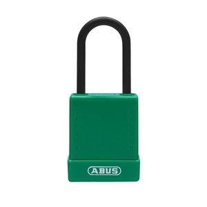 Abus Aluminium Sicherheits-vorhängeschloss mit grüner Abdeckung 84809