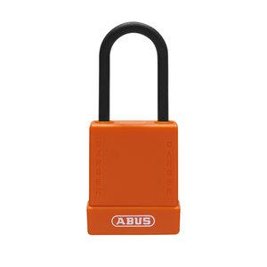 Abus Aluminium Sicherheits-vorhängeschloss mit oranger Abdeckung 84811