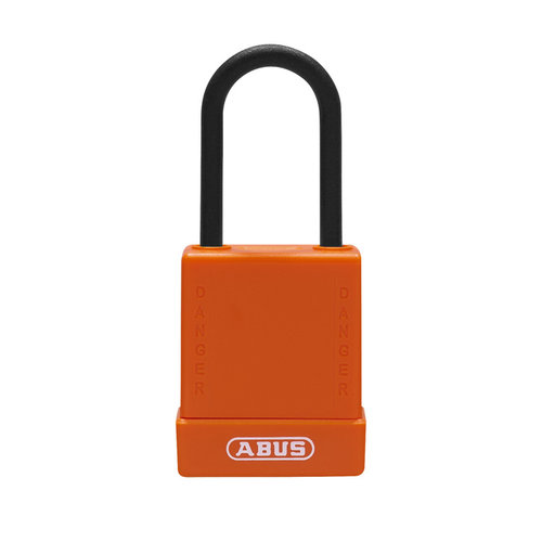 Aluminium veiligheidshangslot met oranje cover 76PS/40 oranje