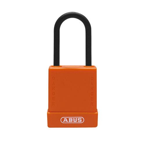 Aluminum safety padlock with orange cover 76PS/40 orange