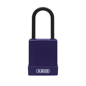 Abus Aluminum safety padlock with purple cover 84812