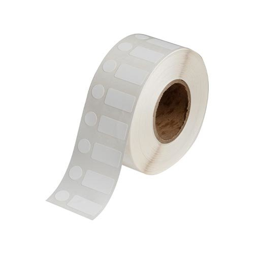Polypropylen-Etiketten   25,40  x 12,70 mm + 11,18 mm Durchmesser
