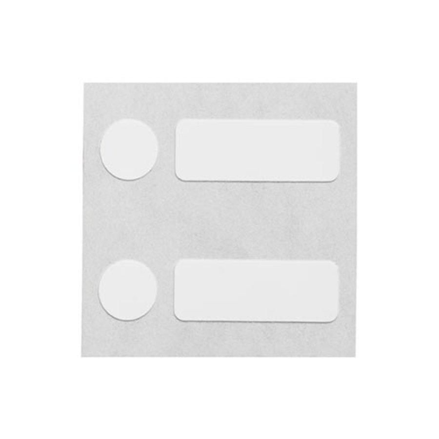 Polypropyleenlabels | 25,40  x 9,53 mm + 9,53  mm diameter