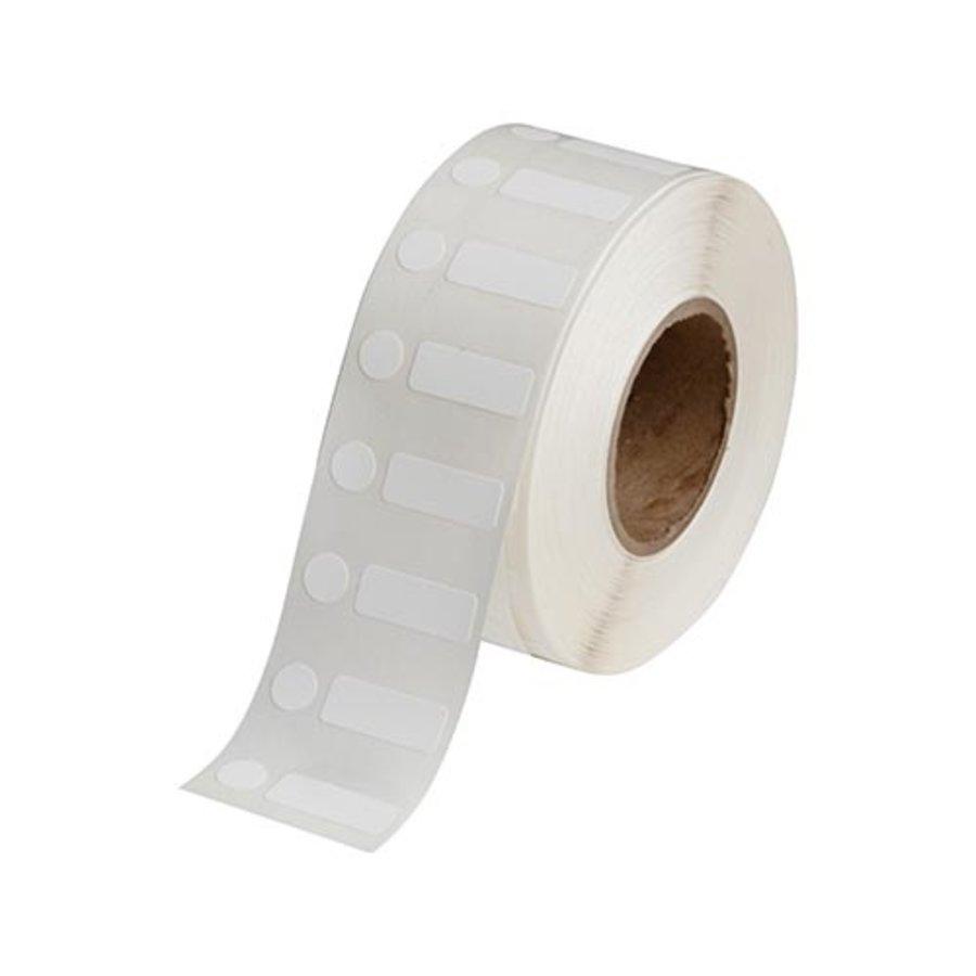 Polypropylene labels  | 25,40  x 9,53  mm + 9,53  mm diameter